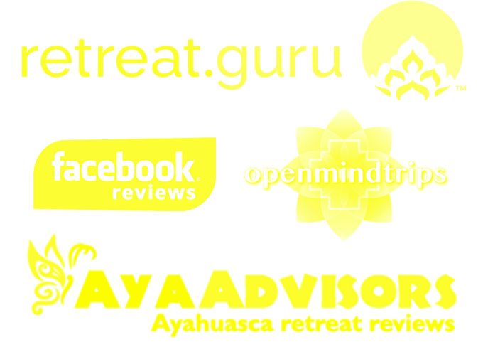 rainforest healing center ayahuasca retreat review site logos